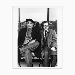 Zero Mostel and Woody Allen Frilling Pendant le tournage du Film the Front, 1976
