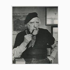 Portrait of Painter Augustus John by Allan Chappelow, England, 1953