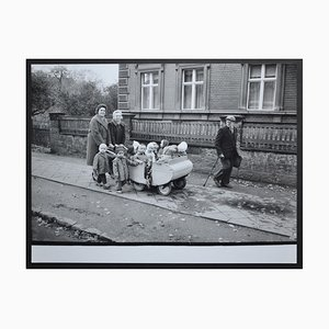 Toddlers' Excursion in a Handcart Postwar, 1950s