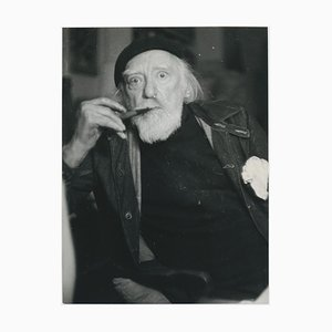 Portrait of Painter Augustus John by Allan Chappelow, England, 1953