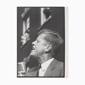 JFK Speaking John F. Kennedy Election Campaign, 1960