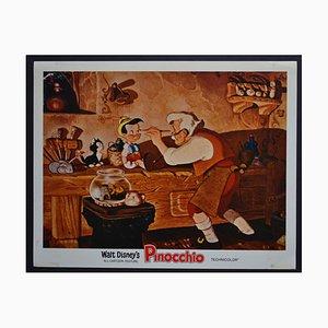 Tarjeta de vestuario estadounidense original de Pinocchio's Walt Disney's Movie, 1940