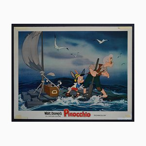 Original amerikanische Pinocchio Lobby-Karte von Walt Disney's Film, USA, 1940