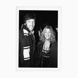 Actrice Sylvia Miles et Richard Chamberlain lors d'une Soirée, 1970