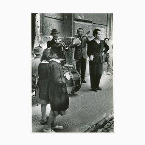Street Musicians, Naples, 1955