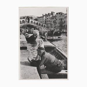 Grand Canal de Venise avec le Pont Rialto, 1955