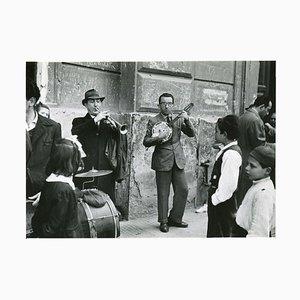 Straßenmusiker, Neapel, 1955