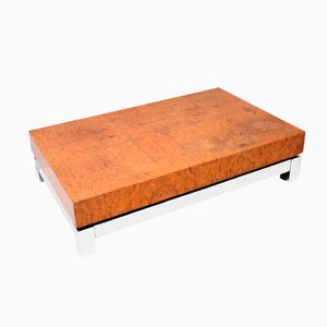Burlwood Coffee Table by Jean Claude Mahey