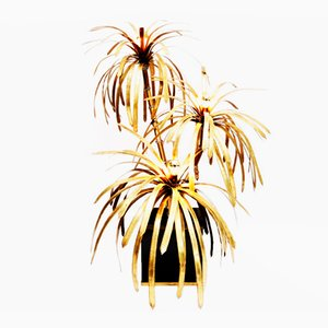 Brass Palm Tree Floor Lamp by Maison Jansen