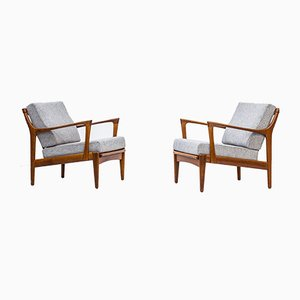 Kuba Lounge Chairs by Bertil Fridhagen for Bröderna Andersson, 1950s, Set of 2