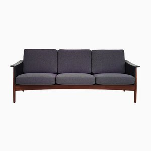 Danish Kvadrat Wool & Teak Sofa, 1970s