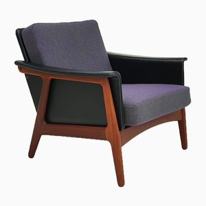 Danish Kvadrat Wool & Teak Armchair, 1970s