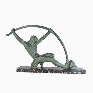 Scultura grande Art Déco in bronzo di DH Chiparus, anni '30