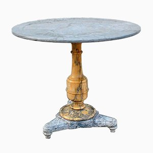 19th Century Restoration Period Marble Pedestal Table