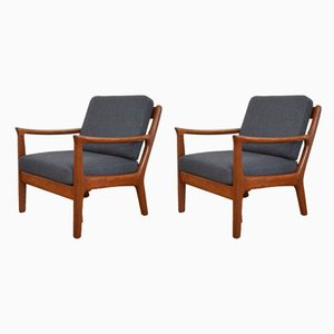 Mid-Century Danish Teak Lounge Chairs by Juul Kristensen, 1960s, Set of 2