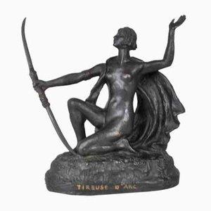 Orientalische Skulptur aus Bronze von Eugène L'Hoest, 19. Jh