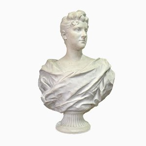 19th Century Marble Female Bust Sculpture by Alfred Boucher