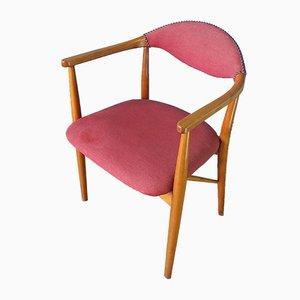 Chaise de Bureau Mid-Century Scandinave en Teck, 1950s