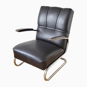 Tubular Steel Series Club Furniture RS 8049 Armchair from Mauser Werke Waldeck, 1930s