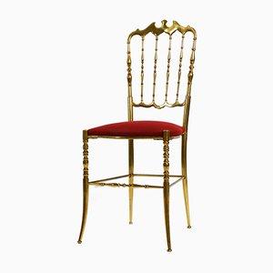 Brass Chiavari Dining Chair by Giuseppe Gaetano Descalzi, 1960s