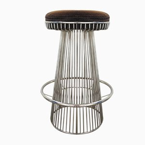 Vintage Wire Frame Barstool in the Style of Warren Platner, 1970s