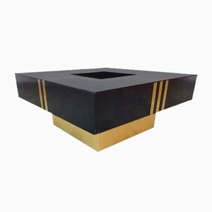 Vintage Resin and Brass Coffee Table, 1970s