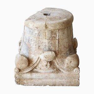 Capitale Corinthienne Antique en Pierre Sculptée à la Main, 1200s