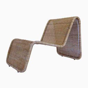 Mid-Century Lounge Chair in Bamboo