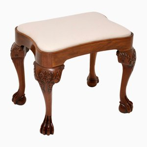 Antique Carved Walnut Stool