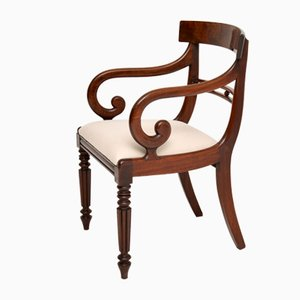 Antique Regency Mahogany Armchair or Desk Chair