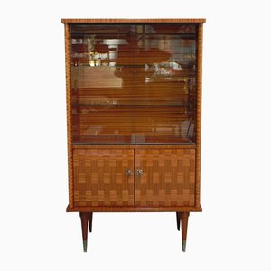 Vintage Display Cabinet with 2 Sliding Glass Doors, 1960s