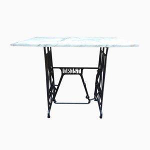 Antiker Art Nouveau Krakauer Marmorplatte Drost Tisch