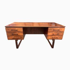 Scandinavian Modern Rosewood Desk by Henning Jensen & Torben Valeur, 1960s