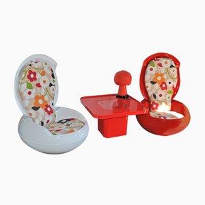 Vintage Garden Egg Chairs & T von Peter Ghyczy, 1968, 3er Set