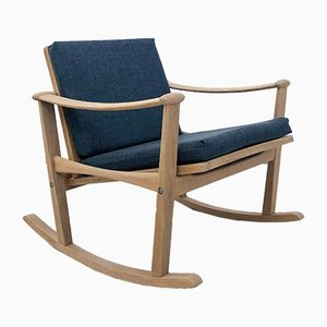Oak Rocking Chair by M. Nissen for Pastoe, 1960s