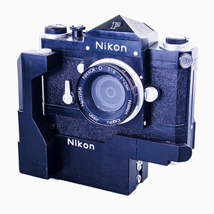 Large Scaled Handcrafted Nikon F Photomic FTN in Wood, 1970s