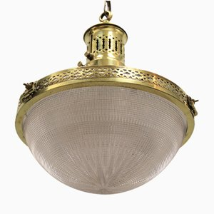 Industrielle Deckenlampe von Holophane, 1920er