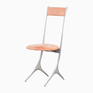 Italian Minimalistic Side Chair from Zanotta, 1980s