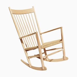Rocking Chair Modèle J16 en Hêtre par Hans J. Wegner pour Fredericia, 1960s