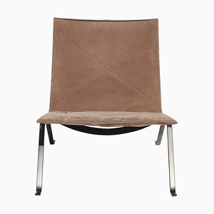 Suede Model PK22 Easy Chair by Poul Kjærholm for Fritz Hansen, 2016