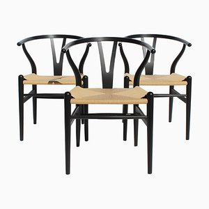 Model CH24 Wishbone Chairs by Hans J. Wegner for Carl Hansen & Søn, 1970s, Set of 3