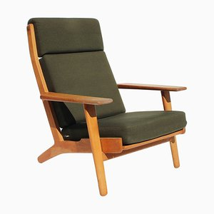 Model GE290A Easy Chair with Tall Back by Hans J. Wegner for Getama, 1960s