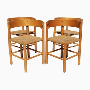 Model FH 4216 Dining Chairs by Mogens Lassen for Fritz Hansen, 1960s, Set of 4