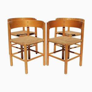 Modell FH 4216 Esszimmerstühle von Mogens Lassen für Fritz Hansen, 1960er, 4er Set