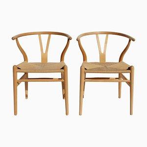 Modell CH24 Wishbone Stühle aus Buche von Hans J. Wegner für Carl Hansen & Søn, 1960er, 2er Set