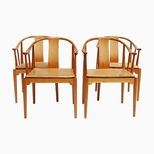 Model 4283 China Chairs by Hans J. Wegner for Fritz Hansen, 1999, Set of 4
