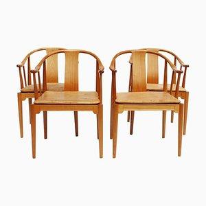 Modell 4283 China Stühle von Hans J. Wegner für Fritz Hansen, 1999, 4er Set