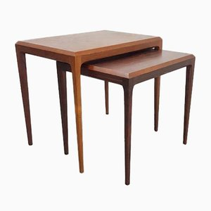 Vintage Teak Nesting Tables, Set of 2