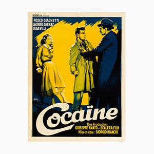 Cocaine the Thrill That Kills Poster by Duccio Marvasi, 1951