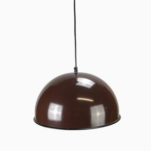 Space Age Brown Sheet Ceiling Lamp, 1970s